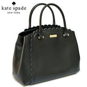 Kate Spade Linzi Scalloped Leather Satchel